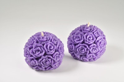 MoeJoe Creations Indigo Lavender Scent Coconut Wax Candle In Reusable Rose Gold and Black Glass
