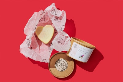 Art'N Green Galah Heart Soap, with Flinders Island Rosalina & French Pink Clay