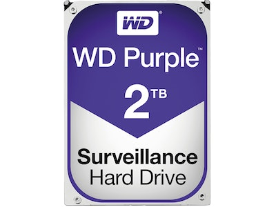 Western Digital (WD) 2TB Purple series hard drive (HDD)