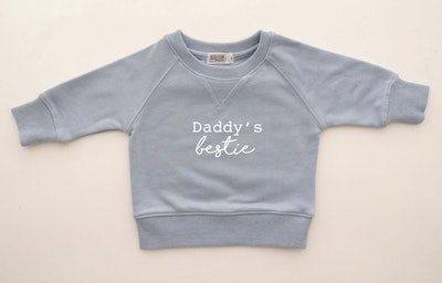 Daddy's Bestie Sweater - Powder Blue