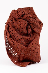 Hitchley & Harrow S47-1 Mocca Broderie Angalaise Scarf
