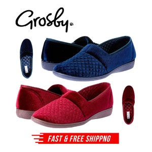 Grosby Marcy 2 Women's Slippers Slip On Indoor Outdoor Quilted Moccasins Shoes