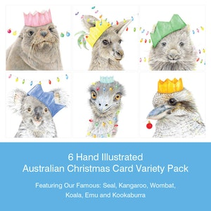 6 Illustrated Christmas Card Pack (a)