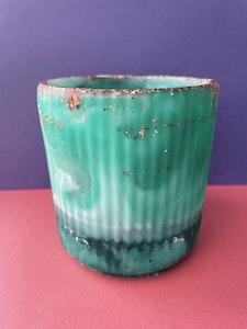 Green Mist Resin Pot