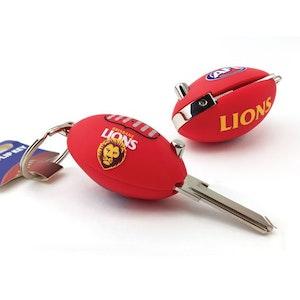 Creative Keys AFL Footy Flip Key Blank with Keyring LW4 – Brisbane Lions