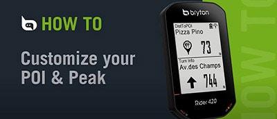 Bryton - Rider 420 | Customize POI / Peak