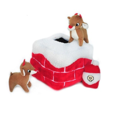 Zippy Paws Christmas Holiday Burrow - Chimney