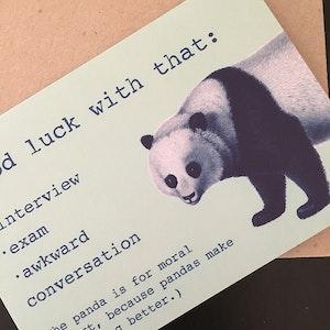 Good Luck Card featuring a Panda
