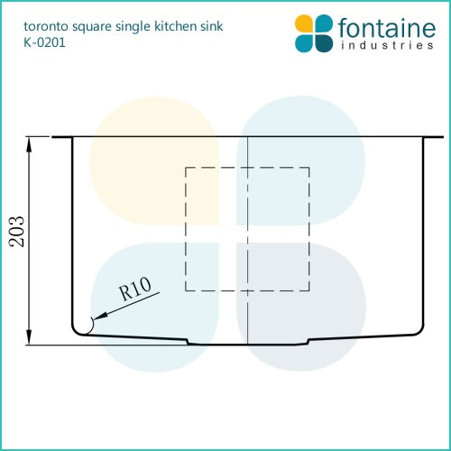 Toronto Single Bowl Square Sink Drop In Sinks For Sale