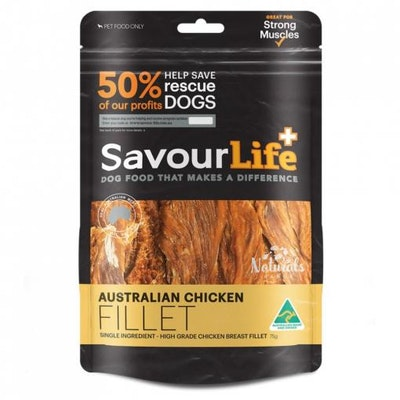 Savourlife Australian Chicken Fillet Dog Treats 165G
