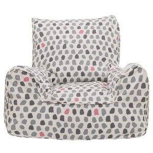 Play Pouch Splotches Bean Chair - Pink & Grey