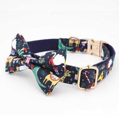 Doggy Topia Jingle & Mingle Collar & Double Bow Tie