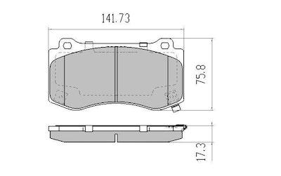 EBC YELLOW STUFF FRONT DISC BRAKE PADS for Chrysler 300C 6.1L SRT8 2005-2012