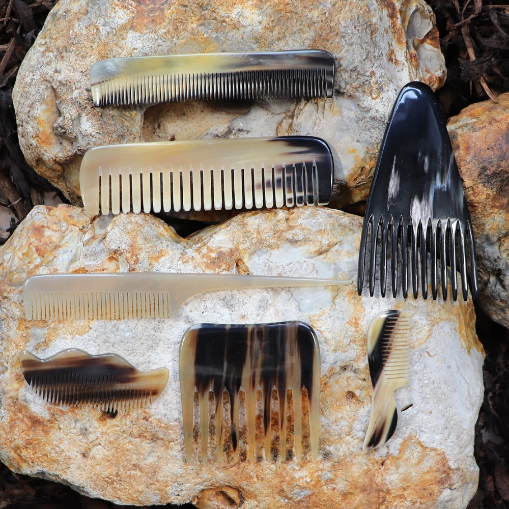 Natural Spa Supplies Horn Combs, All Hair Types, Beard, Moustache, Cats, Babies
