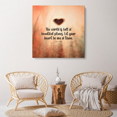 """Art Of A Kind Beautiful Heart Inspirational Canvas Wall Art 24x24"""""""