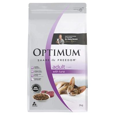 Optimum Tuna Dry Cat Food 2kg