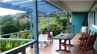 The large balcony at Gerringong Beach House
