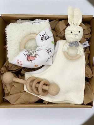 Avie Designs White Rabbit! Newborn Baby Gift Box