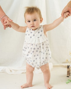 Certified Organic Cotton Sweetheart Baby Girl Romper