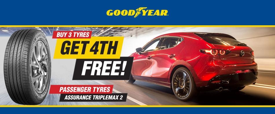 Goodyear Buy 3 Get 1 Free