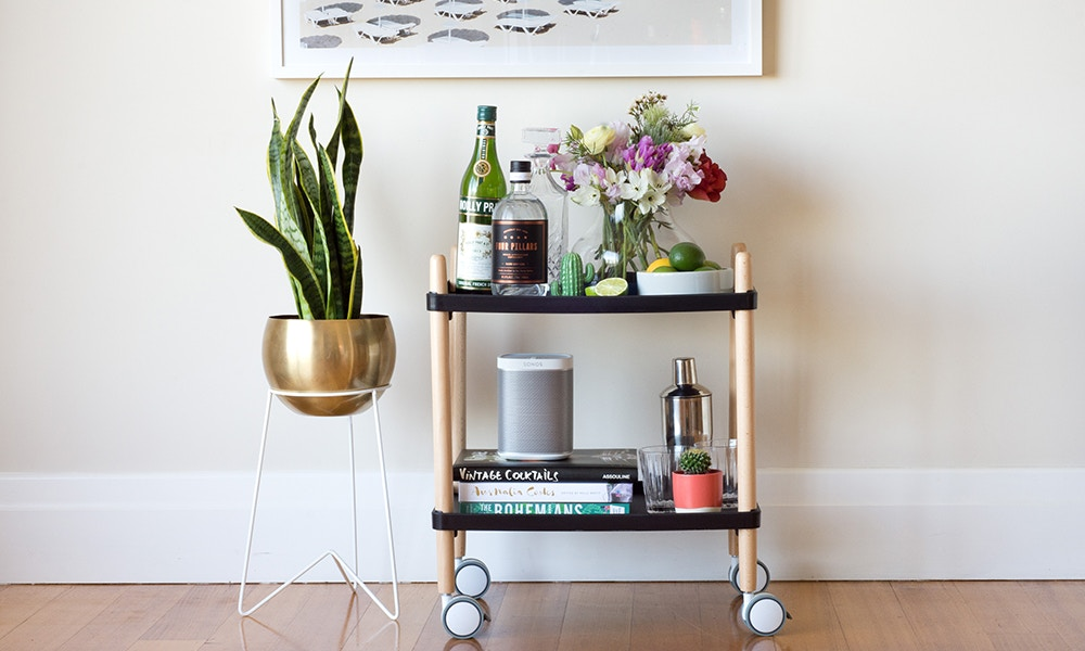 Convert Your Console Table into a Beautiful Bar Cart