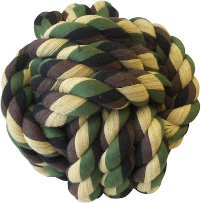 My M8s Camo Rope Knot Ball Interactive Dog Toy - 2 Sizes