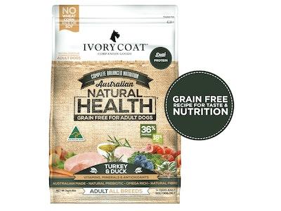 Ivory Coat Turkey & Duck Grain Free Dry Dog Food 2kg