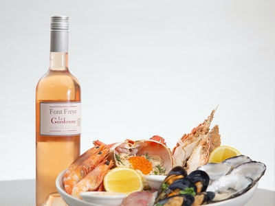 Chilled Seafood Platter Entree & Rose for 2