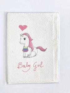 Art'N Green Unicorn card, printed on handmade paper.