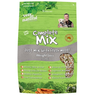 Vets All Natural Complete Mix Weight Loss Dog Food - 3 Sizes