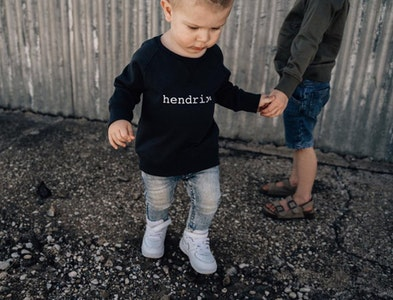 Personalised Name Sweater Charcoal - Plain Font