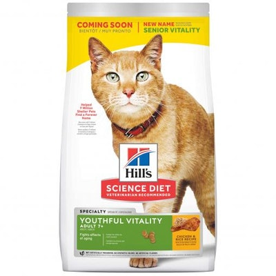 Hills Hill's Science Diet Youthful Vitality 7+ Adult Chicken Dry Cat Food