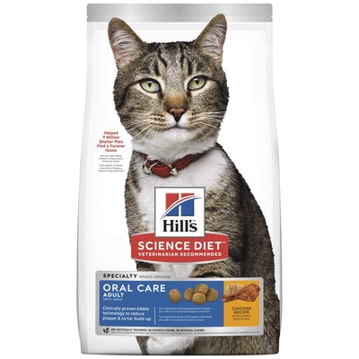 Hills Hill's Science Diet Oral Care Adult Dry Cat Food