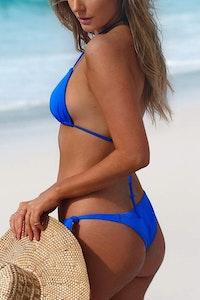 Styelle Swim Heidi | Neon Blue Bikini Bottom
