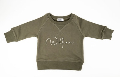 Personalised Name Sweater Olive - Fancy Font