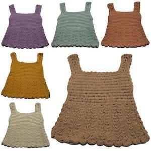 Wildchase Crochet Girls Top - SEASHELLS