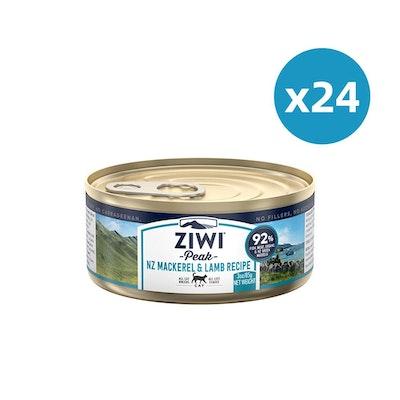 ZiwiPeak ZIWI Peak Cat Mackerel & Lamb Recipe Can 85G X 24