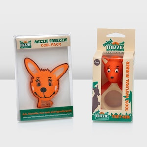 Mizzie the Kangaroo 'mini Soothing Gift Set' - mini Mizzie Teether & Cool Pack