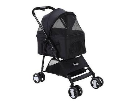 House of Pets Delight Pet Stroller & Carrier Foldable Pram 3 in 1 - Black