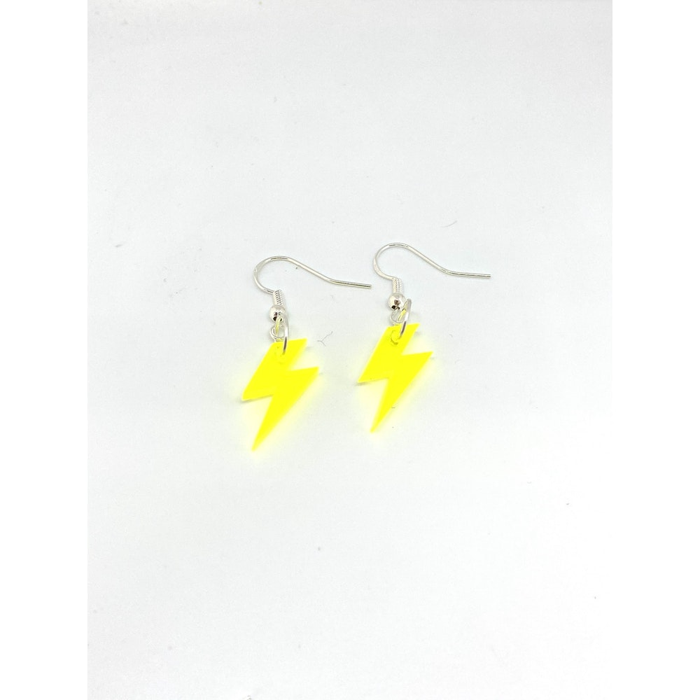 One of a Kind Club Yellow Bolt Earrings