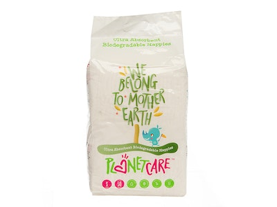 Progeny Stores PlanetCare Eco-friendly Nappies - Small Size (Infant - Size 2: 3-8kg). 50pcs nappies per pack, 6 packs in a PolyBag (A total of 300pcs)