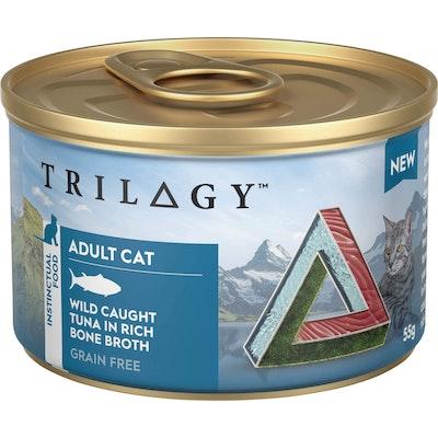 Trilogy Adult Wild Caught Tuna In Bone Broth Wet Cat Food 55G
