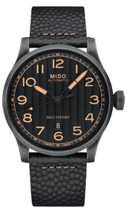 Mido Multifort Escape Horween Special Edition - Stainless Steel with Aged and Sandblasted PVD - Interchangeable Brown and Black Horween® Leather Strap