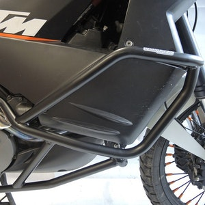 Crash Bars Engine Protectors - KTM LC8 950 Adventure 03-06 Upper/Lower Black