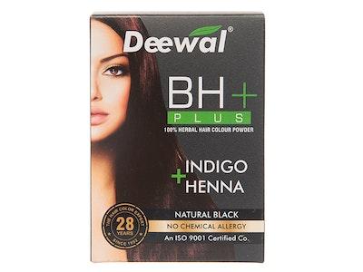 Deewal BH+(100% Herbal Hair Colour Powder)(Natural Black)