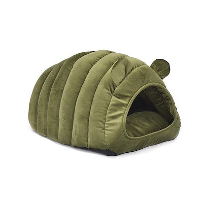 House of Pets Delight Comfy Cat Cave Igloo Round Nest Green L