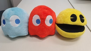 Pac-Man Plush Set (with Sound Effects)