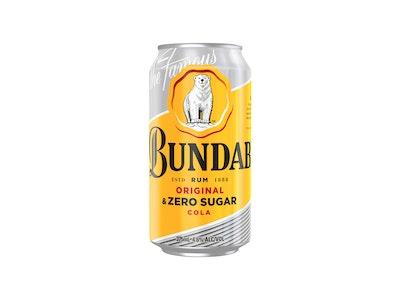 Bundaberg Original Rum & Zero Sugar Cola Can 375mL