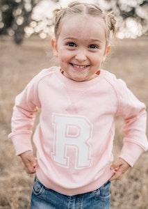 Personalised Varsity Sweater - Pale Pink