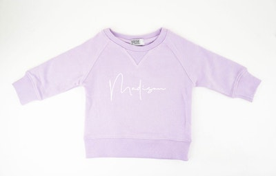Personalised Name Sweater Lilac - Fancy Font